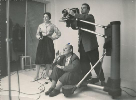 Claire Aho at her studio in the late 1950´s